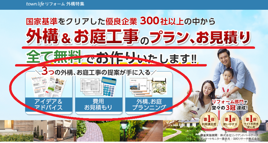 タウンライフリフォーム外構のデメリット②公式サイトに書いてあることが誇大広告すぎる。