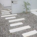 コンクリート平板 アプローチ