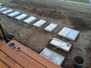 外構 コンクリート平板1