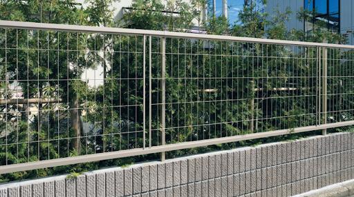 最低限の外構 境界ブロック フェンス